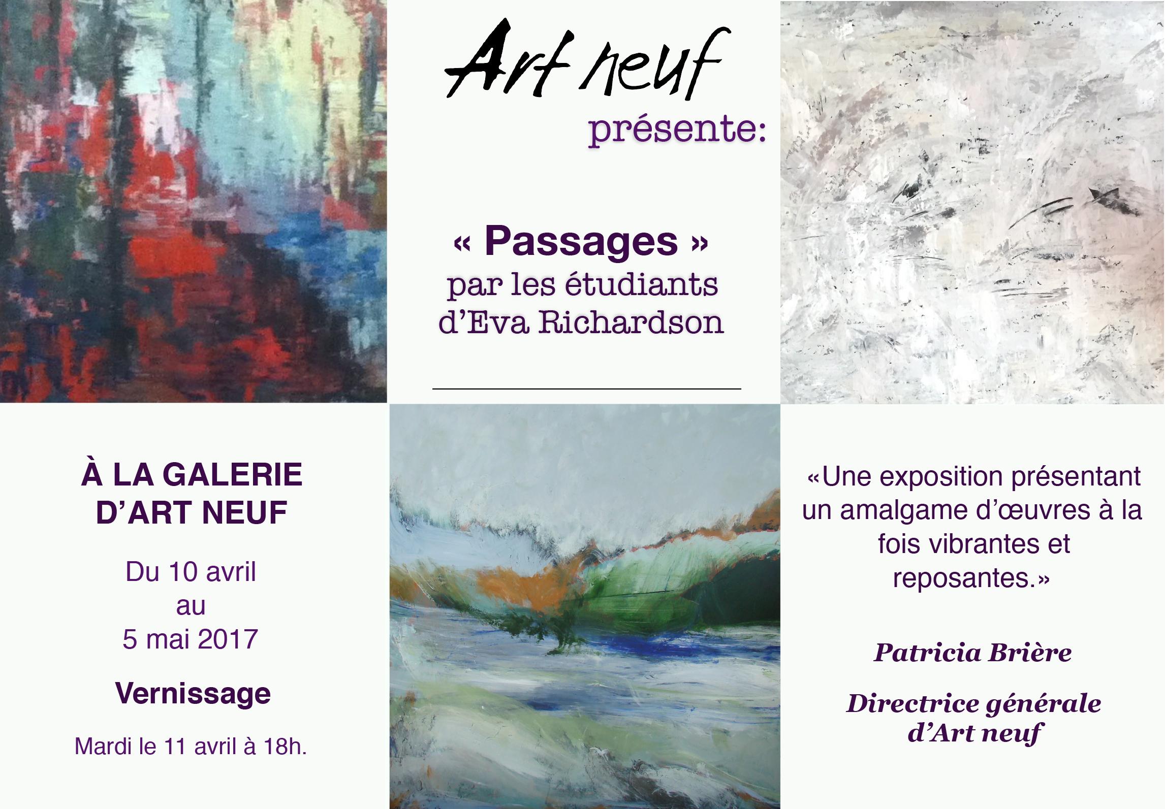 Communiqué Presse Art neuf - Exposition passages 2017