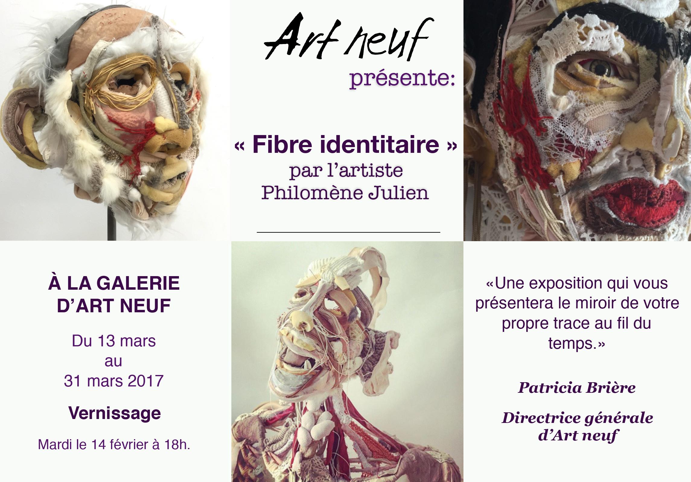 Art neuf, Communiqué Presse, Exposition par Philomène Julien